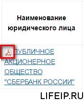 Сведения в PDF