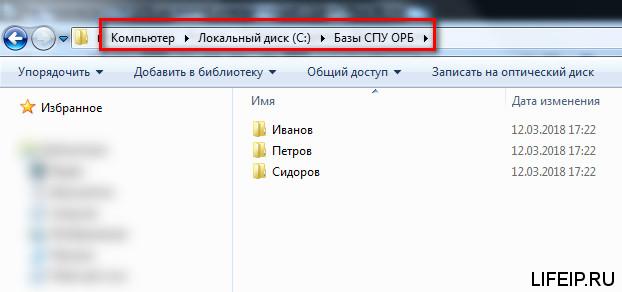 Базы СПУ ОРБ